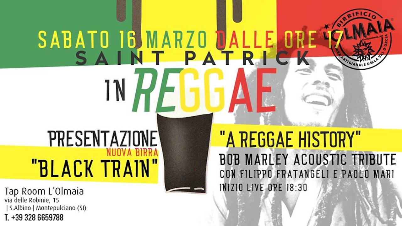 Tap Room dell'Olmaia  presents Saint Patrick in Reggae